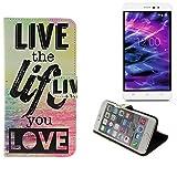 K-S-Trade Für Medion Life S5504 Schutz Hülle 360° Wallet Case ''live Life Love'' Schutzhülle Handy Tasche Handyhülle Etui Smartphone Flip Cover Standfunktion (1x)