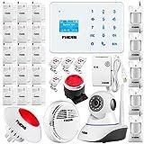 Fuers A2 Kit GSM SMS Système Alarme de Maison sans fil Antivol alarme sirène et appel téléphonique anti intrusion+ Sirène Intérieure + Detecteur de Gaz + Camera IP de Surveillance...