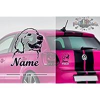 Golden Retriever #1 | Tier | Wunschtext | Auto Aufkleber | Hund