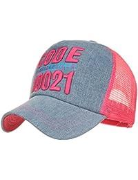 Gorra de baseball - De algodón - Unisex - Protección contra el sol, rojo, M(55-62CM)