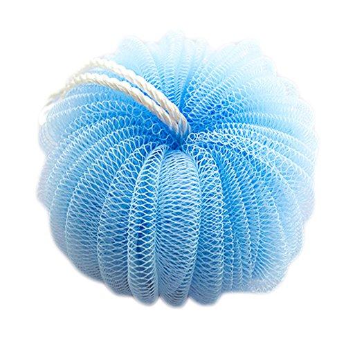 3 PCS Pumpkin Forme boule de bain Bath Sponge laveur Bath Mesh, Bleu