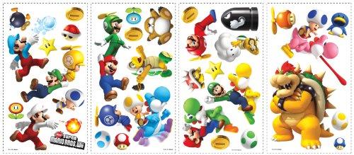 roommates-539025-sticker-multi-elemento-riposizionabile-super-mario-bros-wii-35-figurine-auto-incoll