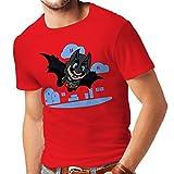 N4328 Männer T-Shirt Superheld ! (X-Large Rot Mehrfarben)