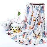 Newin Star–Baby Musselin, Decke, Musselin, Swaddle Decke für Kinderwagen Stuhl- und Baby-Bett Reiner Baumwolle Decken Für Kinderwagen (Kaninchen/Hirsch)