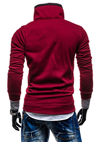BOLF – Sweat-shirt – Con cerniera– BOLF 30S – Uomo Bordeaux