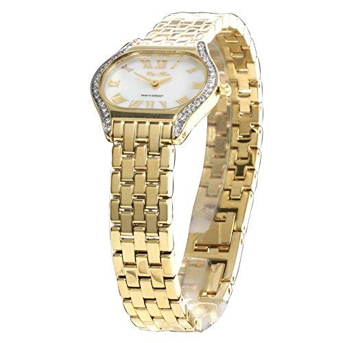 Carpe Diem -Themista perlmutt- Damenuhr / analoge Quarzuhr / Damenarmbanduhr / Armbanduhr für Damen mit römischen Ziffern