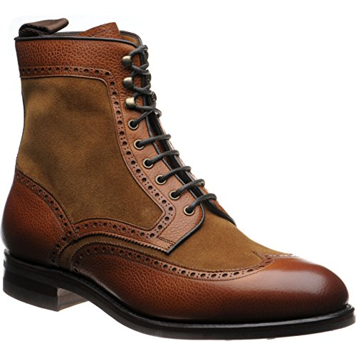Herring Herring Docklands - Botas para hombre marrón Tan Grain and Suede, color marrón, talla 44.5