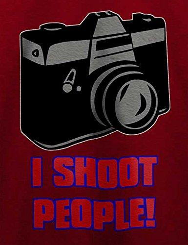 I Shoot People T-Shirt Bordeaux