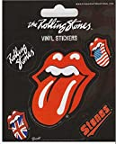 Rolling Stones Aufkleber Sticker Zunge Musik Bands Tongue Rock 'n' Roll Hauptmotiv ca. 7x6 cm