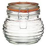 Kitchen Craft 650 ml Home Made Traditional Glass Beehive Honey Pot with Silicone Seal