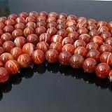 SODIAL (R) 12 millimetri sardonica rossa artificiale branelli allentati rotondi pietra preziosa filo 15.5 pollici