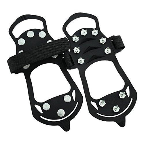 Verziert Schnee Stiefel (rutschfeste Schuhe Steigeisen - TOOGOO(R) Schuhspikes Schuhkrallen, Anti Rutsch Sohle Steigeisen Schuhe, Spikes Schneekette fuer den Stiefel)