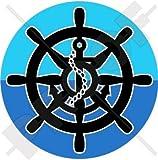 Boot Lenkrad Anker Yacht, Schiff, Segeln 91,4cm (90mm) Vinyl Bumper Aufkleber, Aufkleber