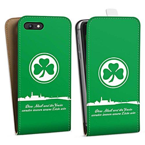 Apple iPhone 5s Tasche Hülle Flip Case SpVgg Greuther Fürth Fanartikel Fußball Downflip Tasche weiß