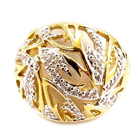Ring plated gold 'Cannes' two-tone.
