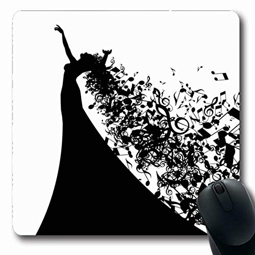 Kostüm Theater Musical Gutes - Luancrop Mousepad Oblong Show Music Opera Sänger Haar wie Musical Live Abstract Singen Theater Broadway Dramatisches Design Kostüm Büro Computer Laptop Notebook Mauspad, Rutschfester Gummi
