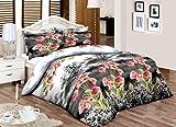 JaaZPinkGreenFloral_____Buy 03 piezas o 04 piezas o 08 piezas juegos de edredones de cama impresa/juegos/edredón conjuntos con cortinas y sábanas.