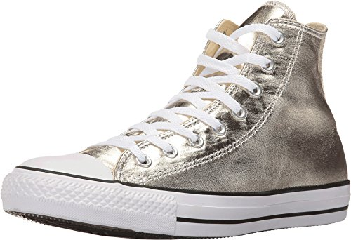 Converse Chuck Taylor All Star Hi Metallic Sneaker (Mens 11, Gold) -
