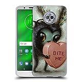 Head Case Designs Offizielle Jason Limon Bite Me Aliens Soft Gel Hülle für Motorola Moto G6