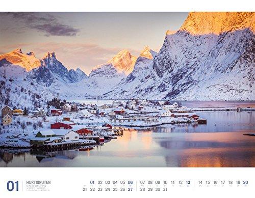 Hurtigruten 2019, Wandkalender im Querformat (54x42 cm) - Norwegen / Skandinavien mit Bildern der beliebten Kreuzfahrtroute mit Monatskalendarium (Reisen mit allen Sinnen): Alle Infos bei Amazon