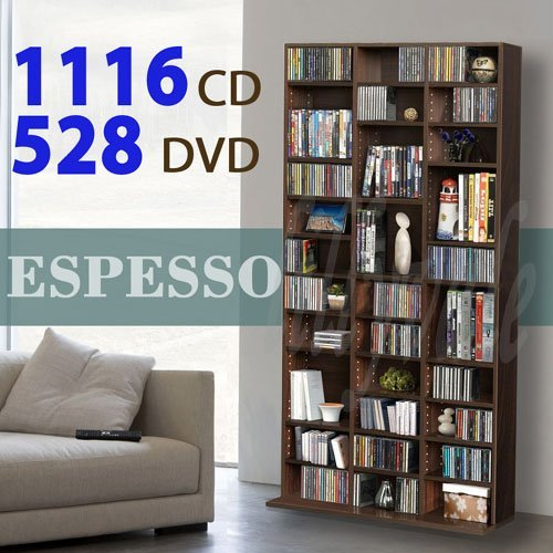 1116 CD/528 DVD Storage Shelf Ra...