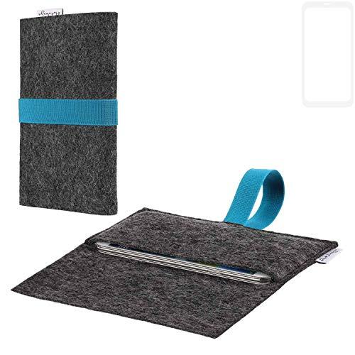 flat.design vegane Handy Hülle Aveiro für Vestel V3 5580 Dual-SIM passgenaue Filz Tasche Case Sleeve Made in Germany