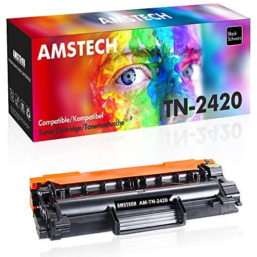 Amstech - Toner compatibile con chip Brother TN2420 TN2410 TN-2420 per HL-L2350DW MFC-L2710DW Brother DCP-L2510D DCP-L2530DW MFC L2750DW HL L2375DW L2310D L2370DN MFC-L2710DN MFC-L2730DW DCP-L2550DN