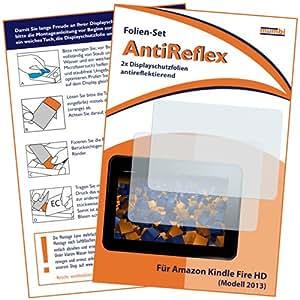 2 x mumbi Displayschutzfolie für das neue Kindle Fire HD-Tablet Schutzfolie AntiReflex matt (Modell 2013)