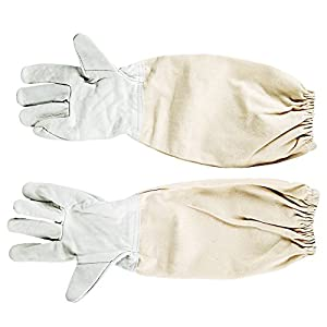 akaddy Gants d'apiculture, Gant de Protection en Toile Gants Anti-Morsure Bee Keeping Tools