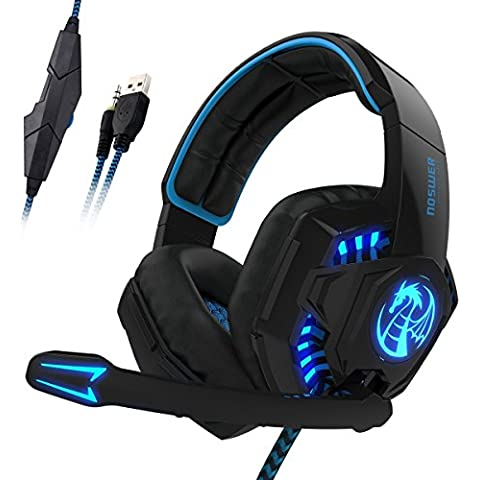 Cuffie Gaming per PS4, LIHAO Noswer I8S Stereo Cuffie Gamer con Microfono Jack 3.5mm per PS4/Mobile