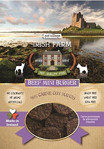 PET VILLAGE - IRISH FARM BEEF MINI BURGER SNACK 90% CARNE DI MANZO 100 GR. - 1509