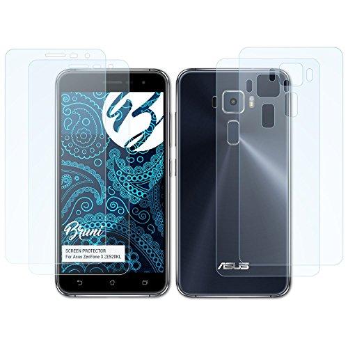 Bruni Schutzfolie kompatibel mit Asus ZenFone 3 ZE520KL Folie, glasklare Bildschirmschutzfolie (2er Set)
