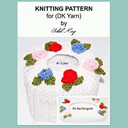 Abi Vintage Roses Style Cube and Rectangular Tissue Box Covers Knitting Pattern by [Kay, Adel]