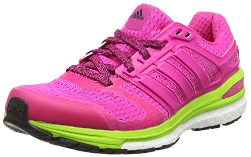 adidas Supernova Sequence 8 Damen Laufschuhe, Pink (Shock Pink/Semi Solar SlimeShock Pink/Semi Solar Slime), 38 2/3 (Sequence Adidas-damen)