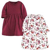 فساتين هدسون المصنوعة من القطن للرضع والاطفال من الفتيات  Fall Floral Long-sleeve 2-pack 5T