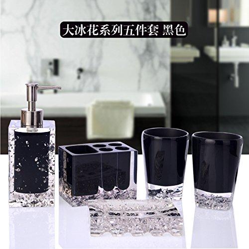 Bagno di resina Set Continental 5 Pezzo XL articoli da toeletta coppie bicchiere di risciacquo