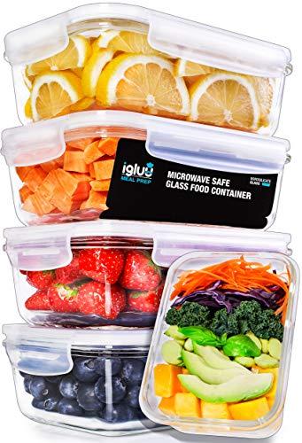 Meal Prep Container aus Glas mit Transparentem Dampfventildeckel - Luftdicht Verschließbare Frischhaltedosen, BPA-Frei, Geeignet für Mikrowelle, Gefrierfach, Spülmaschine, Ofen - [5er Pack] - eBook