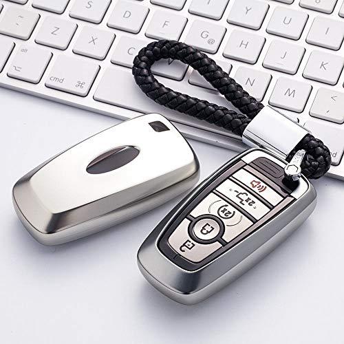 MALLTY Für Ford Schlüsselanhänger Abdeckung Full Protection Schlüsselanhänger mit Schlüsselkette Kompatibel mit Keyless-Fernbedienung Smart Escort Edge Mondeo Ecosport Key Series (Smart Escort)