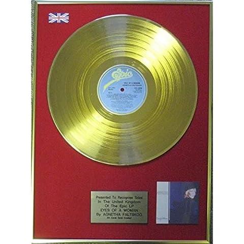 Agneta degli Faltskog-Disco in oro 24 ct-Eyes di una donna - Disco Eye