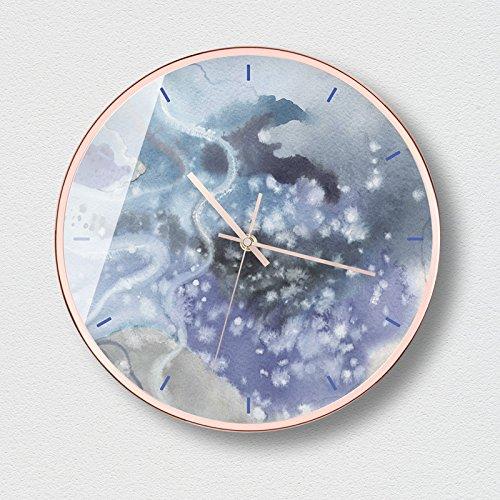 Horloges Murales Art Moderne Style Moderne Silencieux et Non-Coutil 12.0 pouces Grand Cadran Horloge à Quartz pour Salon / Chambre À Batterie ( Couleur : C )
