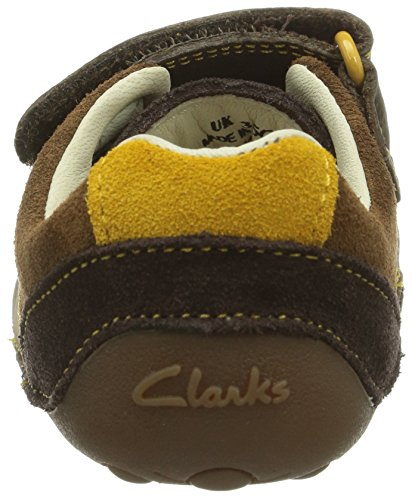 Clarks Tiny Seb Baby Jungen Lauflernschuhe Braun (Brown Combi Lea)