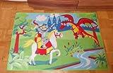 Associated Weavers Kinderteppich Teppich Kinderteppich Kinder Teppich Spielteppich Boys 06 Knigt Ritter mit Drache 80 x 120 cm ein muss für jeden Ritter Fan darf in keinem Kinderzimmer fehlen