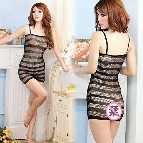 LybCvad sexy Unterwäsche ❤ Transparente Zebra Schwarze Strümpfe Siam sexy Netze schwarz sexy Engen Riemen Rock Anzug