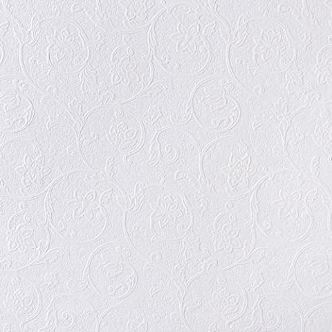 Brewster RD4012 Anaglypta Paintable Floral Scroll Trail Wallpaper, 21-Inch by