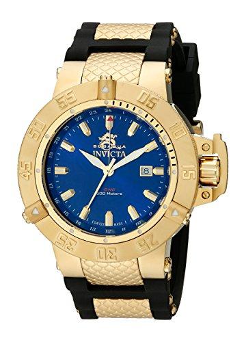 Invicta Subaqua Men's Quartz Watch with Blue Dial  Analogue display on Black Plastic Strap 1150