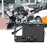 juman634 Staffa di Navigazione per Telefono Cellulare Doppia Ricarica USB per BMW R1200GS F700 800GS CRF1000 Honda Supporto per Cellulare per Bici da Moto