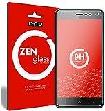 nandu I ZenGlass [2 Stück] Flexible Glas-Folie für Wiko Lenny 4 Plus Panzerfolie I Display-Schutzfolie 9H I (Kleiner Als Das Gewölbte Display)
