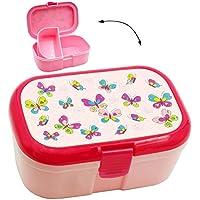 Preisvergleich für alles-meine.de GmbH Lunchbox / Brotdose - Schmetterlinge & Blumen - mit Extra Einsatz / Heraus..