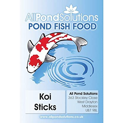 All Pond Solutions Premium Koi Fish Food Sticks with Spirulina, 10 kg 2