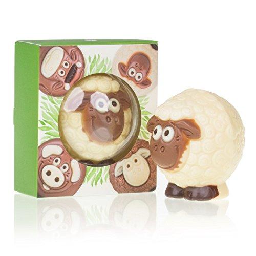 Choco Sheep White - Schaf aus weißer Schokolade, Ostergeschenk, Ostern Schokolade, Osterschokolade, Ostersüßigkeiten